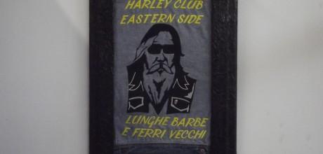 quadro ricamato harley club